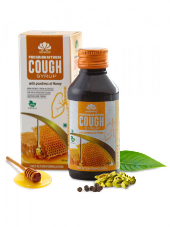 Pankajakasthuri Cough Syrup with Honey - Ayurvedic Medicine For Cough & Cold